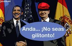 Obama riñe a Zapatero