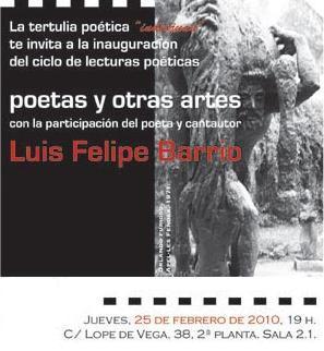 Tertulia poética con Luis Felipe Barrio