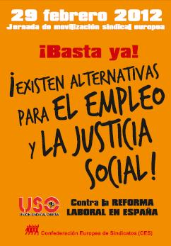 29-F: Jornada de movilización sindical europea contra la reforma laboral
