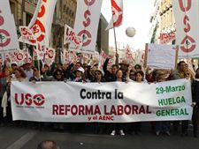 Masiva respuesta de los ciudadanos a la convocatoria de Huelga General