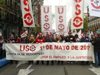 La USO en las calles conmemora el Día del Trabajo de manera independiente