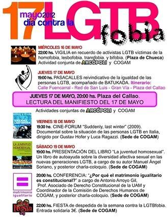 17-M: Día contra LGTB-fobia 2012