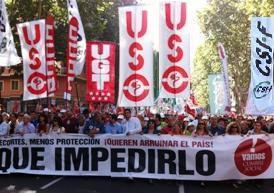 7-O: Miles de manifestantes recorren las ciudades de España