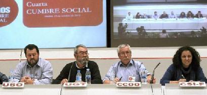 La Cumbre Social convoca formalmente la huelga general del 14-N