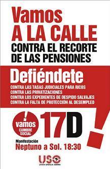 17-D: La Cumbre Social convoca manifestaciones contra las medidas antisociales aprobadas por el Gobierno