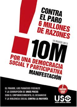 10-M: Manifestaciones contra el paro y por la regeneración de la democracia