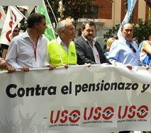 USO rechaza la nueva propuesta de reforma de la pensiones