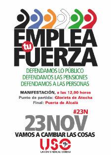 El 23 de noviembre movilización en España y en Europa