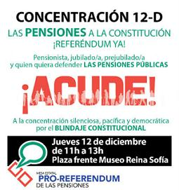 12-D: Concentración en defensa de las pensiones en Madrid